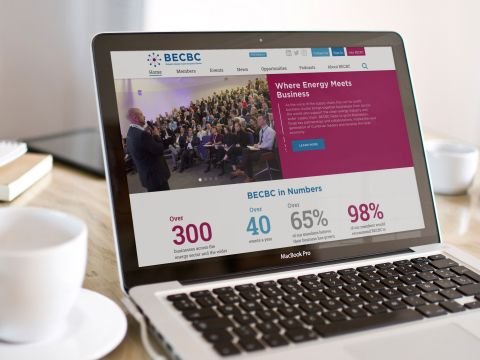 Becbc website on laptop