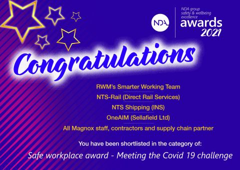 Achievement Safe workplaces award Meeting the Covid 19 challenge