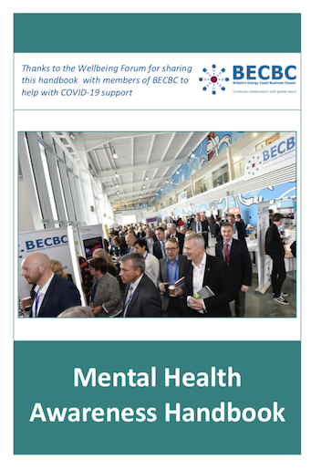 BECBC Wellbeing Forum Mental Health Handbook COVER GRAPHIC
