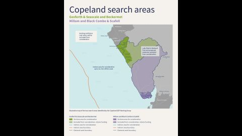 Copeland Working Group proposed Search Areas
