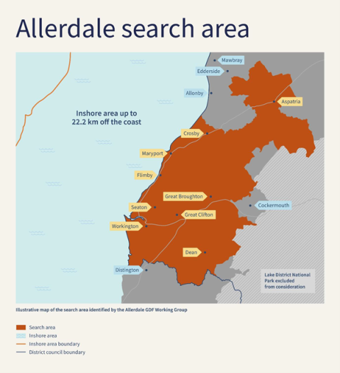 Allerdale Search Area