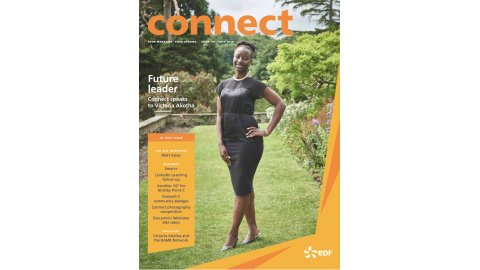 Connect Magazine from EDF July cover shot