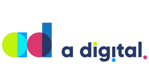 A digital logo white bg