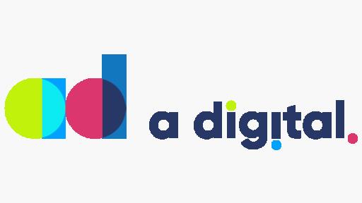 A digital logo white bg